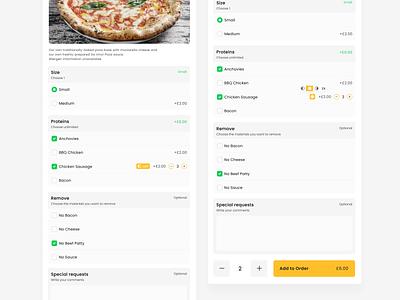 Pizza Side Selection ui  ux uiux ui checkout add add new selection restaurant pizza menu pizza side order pizza