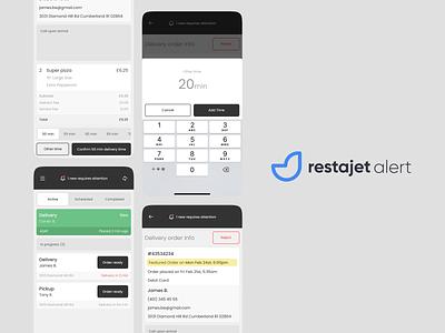 restajet alert ios logo ui alert mobile app order