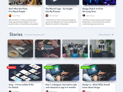 Marvel Blog Redesign user interface ux ui colours after effects animation gif concept redesign blog marvel