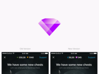 Improvement of diamond icon & header