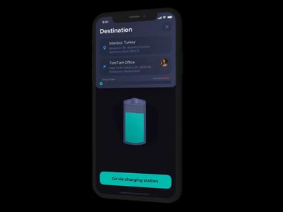 Navigation Concept concept minimal iphone mobile design gif app ios animation ui  ux ui tomtom