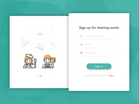 Daily UI #001 - Hint: Design a sign up page