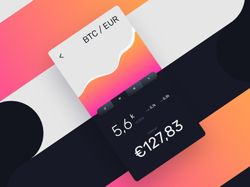 Bitcoin Portfolio Interface gradient curve cryptocurrency design ui wallet portfolio bitcoin