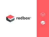 redbox logo design red minimalist branding design logo redbox