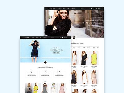 Beluga Store shop e-commerce store fashion clothing web ux design ui