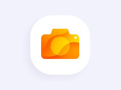 Icons kiosk tech interactive app gradient camera orange icon ui design