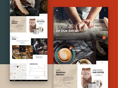 Coffee shop UI coffee senses modular design web ux ui