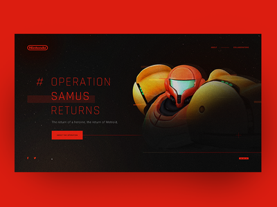 #OperationSamusReturns operationsamusreturns fanmade website nintendo samus metroid