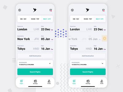 Flights App UI Kit ui mobile app ux design ux ui ux ui design app concept