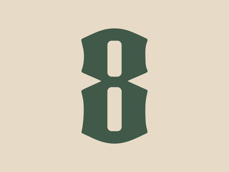 36 Days of Type: 8 8 numbers custom type 36 days of type type typography color vector design