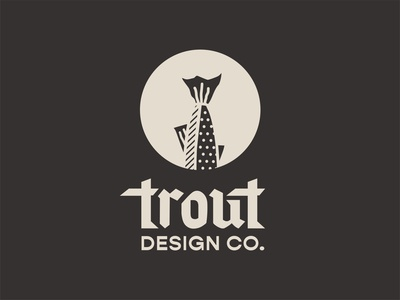 Trout Design Co. 5/12 icon logo identity custom type illustration type typography color vector design