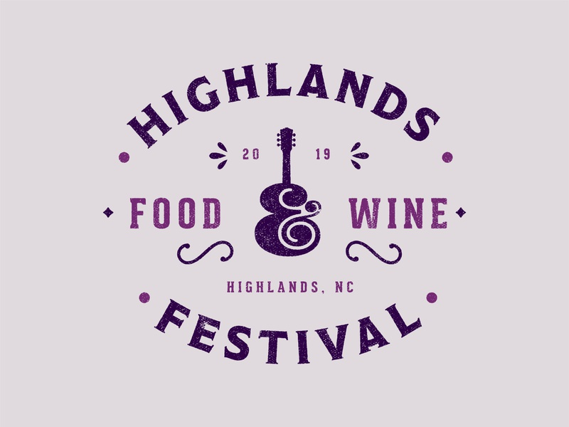 Highlands Food & Wine Festival 2019 campaign branding system folk seal badge food and drink festival merchandise wine food identity illustration branding icon logo type typography color vector design