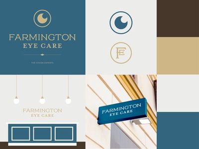 Farmington Eye Care: Brand Identity eye optometry logo design logomark identity illustration branding icon logo type typography color vector design