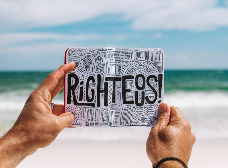 Righteous nemo doodle beach ink custom type sketch illustration type typography design