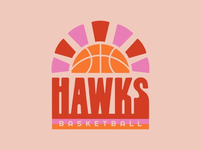 Pea Ridge Basketball hawk blackhawks retro design retro font retro merch design merchandise basketball lettering sketch illustration custom type icon type typography color vector design