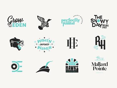 2020 In Review // 1 of 3 logotype logomark graphic design logodesign identity branding illustration icon logo type typography color vector design