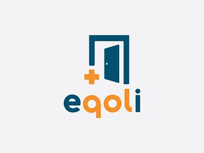 Eqoli Logo System ux health app app home health brand design health logo system branding system logotype identity branding icon logo type typography color vector design