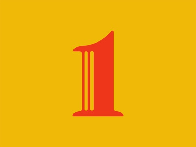 36 Days of Type: 1 1 type design font design 36 days of type numerals numbers type typography color vector design