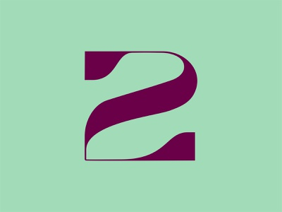 36 Days of Type: 2 2 type design font design custom type 36 days of type number numeral type typography color vector design
