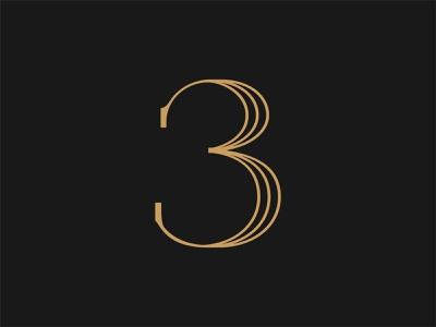 36 Days of Type: 3 3 numerals numbers type design custom type font design type typography color vector design
