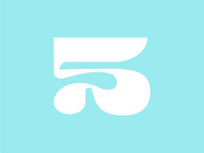 36 Days of Type: 5 wavy groovy funky 5 type design font design numerals numbers 36 days of type type typography color vector design