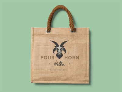 Four Horn Holler: Branding System system brand identity print materials merchandise applications business cards logos rustic sheep ram branding icon logo type typography color vector design