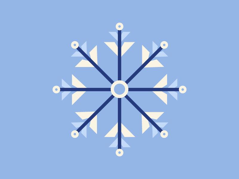 Snowflake snowflake snow winter logo icon color vector design