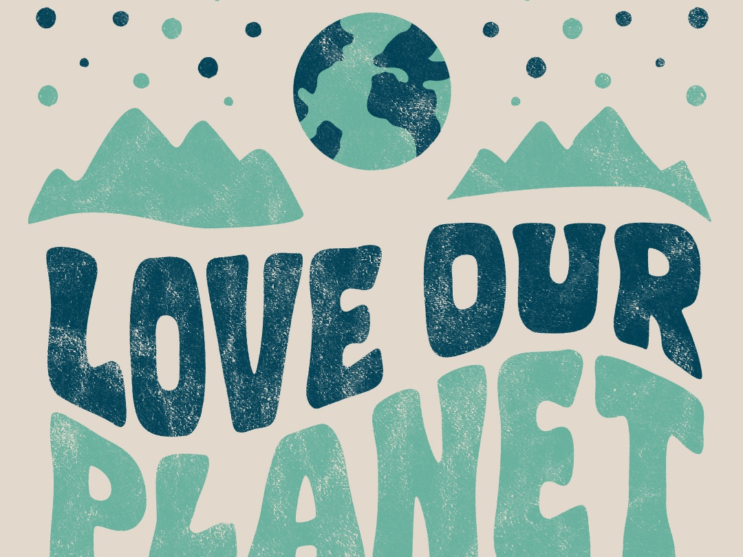 Earth Day 2019 planet earth day earth texture hand lettering type vector color icon sketch illustration typography design