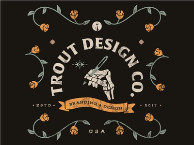 Trout Design Co. Summer Look symbolic system brand identity texture identity typography sketch icon branding illustration vector logo color design