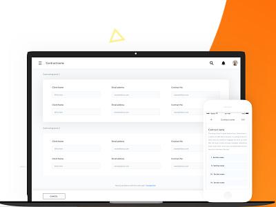 Contracting Portal portal contract app web design ux interface ui minimal project sketch design