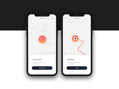 Headphone app music app tracking app ux interface ui minimal project sketch design