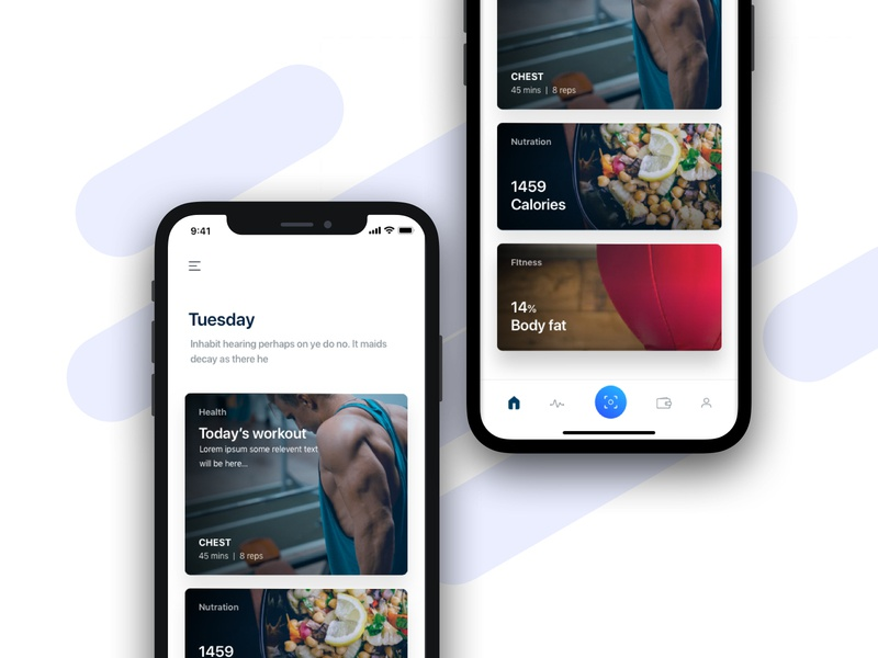 GymPay home payment app ux interface ui minimal project sketch design