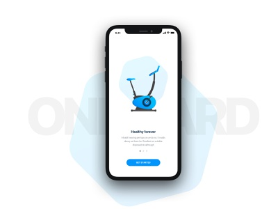 GymPay onboarding payment app ux interface ui minimal project sketch design
