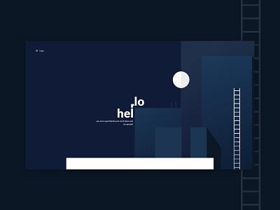 Landing page dark web deisgn interface ui minimal sketch design landing page