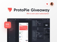 ProtoPie Giveaway! 🎁 mobile tool license gift win free freebie contest giveaway protopie