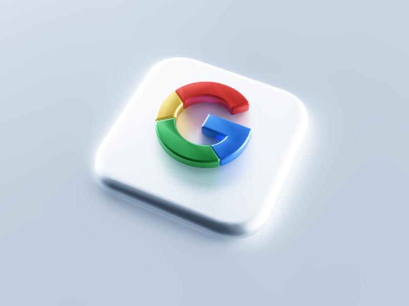 Google 3D Icon mobile ui branding app icon design logotype neomorphism ios 14 c4d mac os icon logo google bigsur big sur 3d illustration 3d modeling 3dsmax 3d art 3d icon 3d