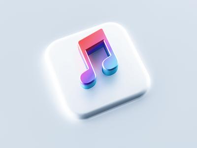 iTunes 3D Icon mac os mobile graphic design branding logotype logo icon blender c4d 3dsmax 3d modeling 3d art 3d apple music apple itunes