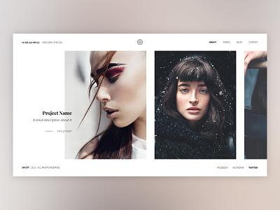 Creative Minimal Home Page modern web design photography simple creative website clean light flat portfolio minimal