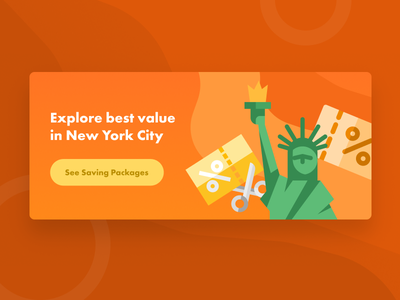 Banner sale discount price flat block card ad banner nyc new york