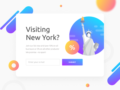 Pop-up popup illustration newsletter email sale figma agency travel nyc new york ad banner