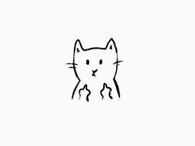 Morning Mood kitten cartoon character designer illustration art cat damn fuck off fuck mood