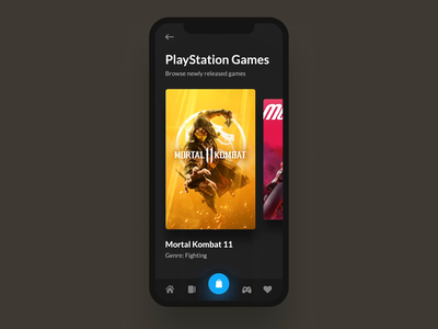 PlayStation Mobile Animation after effects interaction dynamic ui transition motion design motion iphone iphone x application video gif animation mortal kombat game xbox playstation ps4 mobile app