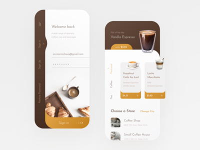 Coffee Shop Mobile App