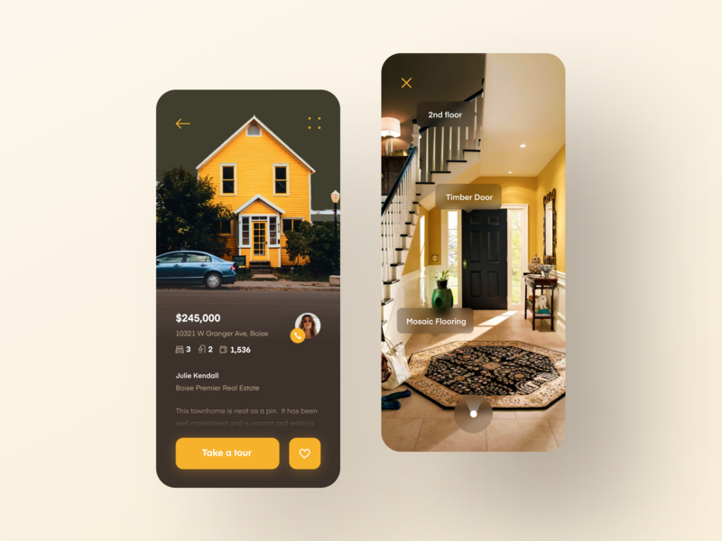 Home Search Mobile App #3 search mobile ui tour realtor real estate iphone application app mobile 360 virtual tour ar vr buy sell room flat apartment house home