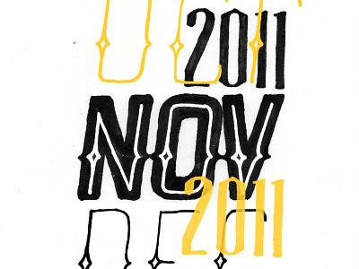 Lettering ink calendar november lettering