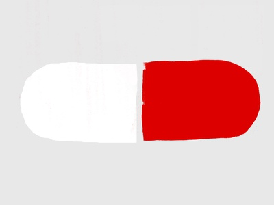 Red Pill ink pill graphic