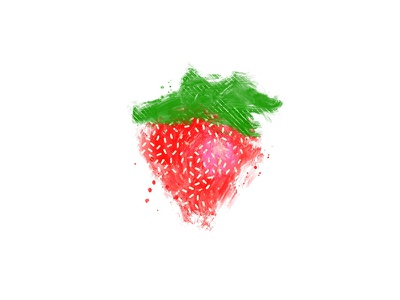 Digital Paint Strawberry strawberry procreate fruit digital painting