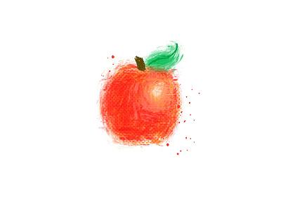 Digital Paint Apple fruit apple digital painting procreate