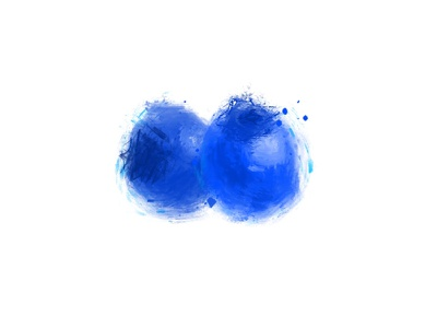 Blueberry Digital Paint blueberry blue fruit procreate digital painting