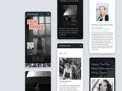 Christina Lane website (mobile) responsive web design responsive design responsive author web wordpress development wordpress theme wordpress website design website